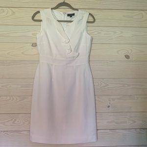 Tahiti Arthur s Levine white linen/rayon dress